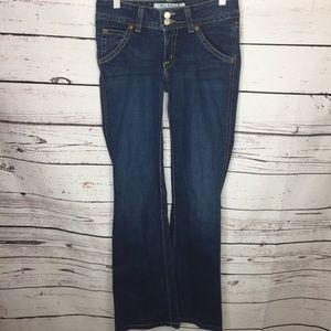 Hudson 27 low rise boot cut jeans